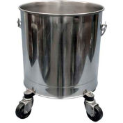 """Geerpres® 2601 Stainless Steel 8 Gallon Mop Bucket on 3"""" Casters, Autoclavable - For Cleanrooms"""