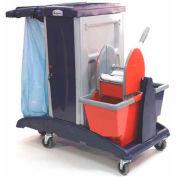 Modular Plastic Cart - Base Unit W/ Bucket & Wringer Combo
