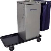 Genesis™ Stainless Steel Housekeeping Cart W/ Self Locking Door