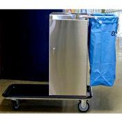 Escort® Stainless Steel Housekeeping Cart W/ Vacuum Carrier
