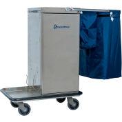 Genesis™ Stainless Steel Microfiber Housekeeping Cart w/Double Bag Handle