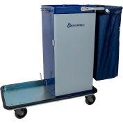Genesis™ Powder Coated Housekeeping Cart W/ Self Locking Door
