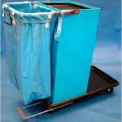 Escort® Epoxy Coated Housekeeping Cart W/ Self Locking Door And Vacuum Carrier