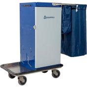 Genesis™ Powder Coated Microfiber Housekeeping Cart w/Double Bag Handle