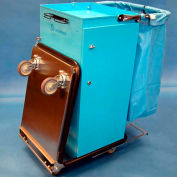 Escort® Housekeeping Cart W/ Self Locking Door, Double Bucket Folding Tray & Vacuum Carrier