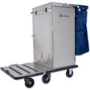 Odyssey™ Stainless Steel Housekeeping Cart W/ Folding Tray