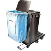 Escort RX™ Stainless Steel Housekeeping Cart W/ Folding Tray and Vacuum Carrier