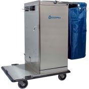 Odyssey™ Stainless Steel Microfiber Housekeeping Cart