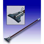 """Featherweight™ 60"""" Vinyl Covered Aluminum Mop Handle W/ Electroplated Holder"""