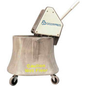 """Geerpres® 510 Ultra® Wringer & 35 Qt Champ™ Plastic Bucket w/3"""" Casters Mopping Combo"""
