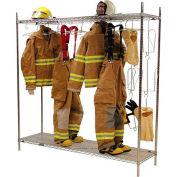 Ready Rack® Freestanding Air Dry Laundry Rack Locker DPF - Chrome