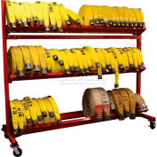 """Ready Racks™ Two-Tier Hose Cart - Holds Up to 2000' of 2-1/2"""" Hose"""
