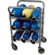 SCBA Mobile Bottle Cart, Multi Purpose Mobile Bottle Cart, Chrome