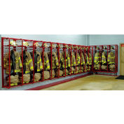 "Red Rack™ Wall Mounted Gear Storage Rack Locker RRWM-9/24 - Nine 24"" Sections, Red"