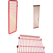 """Security Options of Top Shelf, Lockable Door for Each 24"""" Red Rack™ Wall Mounted Section, Red"""