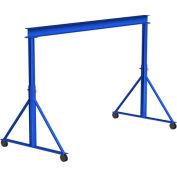 Gorbel® Steel Gantry Crane, 8' Span & 15'-18' Adjustable Height, 6000 Lb. Capacity