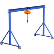 Gorbel® Steel Gantry Crane, 8' Span & 10' Fixed Height, 2000 Lb. Capacity