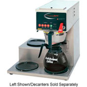 Single, Digitally Controlled Decanter Brewer, 1 Bottom & 2 Right Side Warmers