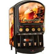 Hot Powdered Beverage Dispenser, Five Flavor, w/Island