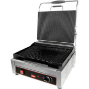 Panini / Sandwich Grill, Single Plus Grooved Surface, 120V