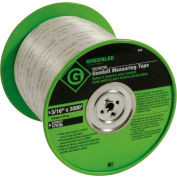 """Greenlee® 435 Tape-Measuring, 3000 ft. x 3/16"""" Poly"""