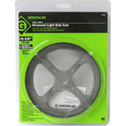 "Greenlee 35713 Recessed Light Hole Saw, 6-3/8"" Steel Tooth"