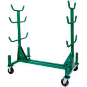 Greenlee 668 Mobile Conduit And Pipe Rack With Casters, 1000 lb. Capacity