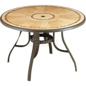 "Grosfillex® Louisiana 48"" Round Outdoor Table - Bronze"