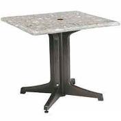"Grosfillex® 24"" x 32"" Outdoor Table Top Only No Umbrella Hole - Tokyo Stone"