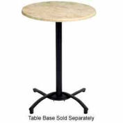 "Grosfillex® 36"" Round Outdoor Table Top Only with Umbrella Hole - Boulder"