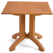 "Grosfillex® Atlanta 32"" Square Outdoor Table - Teak"