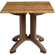 "Grosfillex® 32"" Square Outdoor Table - Wicker Décor - Atlanta Series"