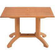 "Grosfillex® 48""L x 32""W Outdoor Table - Teakwood Décor - Atlanta Series"