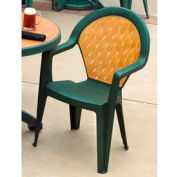 Grosfillex® Amazona Highback Outdoor Armchair Amazon Green (Sold in Pk. Qty 4) - Pkg Qty 4