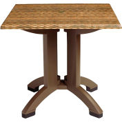 "Grosfillex® 36"" Square Outdoor Table - Wicker Décor - Atlanta Series"
