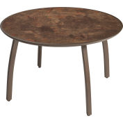 """Grosfillex® Outdoor 42"""" Round Table - Cast Metal - Fusion Bronze - Sunset Series"""