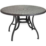 "Grosfillex® Cordoba 48"" Round Outdoor Table - Charcoal"