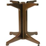 Grosfillex® Alpha Resin Large Outdoor Pedestal Table Base 2000 - Bronze Mist