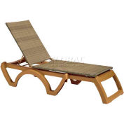 Grosfillex® Java All-Weather Wicker Chaise - Honey (Sold in Pk. Qty 2) - Pkg Qty 2