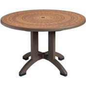 "Grosfillex® Havana 48"" Round Outdoor Table - Espresso"