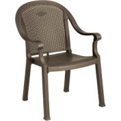 Grosfillex® Sumatra Classic Outdoor Armchair - Bronze Mist (Sold in Pk. Qty 16) - Pkg Qty 16