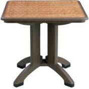 "Grosfillex® Havana 32"" Square Outdoor Table - Espresso - Pkg Qty 2"