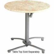 Grosfillex® Aluminum Tilt Top Table Base 200 - Silver Gray
