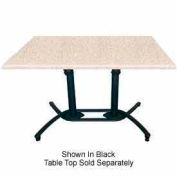 Grosfillex® Aluminum Tilt Top Lateral Table Base- Silver Gray