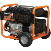 GENERAC® 5946, 6500 Watts, Portable Generator, Gasoline, Recoil Start, 120/240V