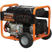 GENERAC® 5975, 5500 Watts, Portable Generator, Gasoline, Recoil Start, 120/240V
