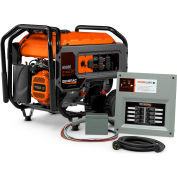 Generac 6865, 6000 Watt Generator, Gas Engine, Recoil/Electric Start, With Manual Transfer Switch