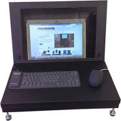 "Laptop Enclosure, Black, 21""W x 14""H"