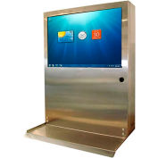 "Computer & Monitor Enclosure, Stainless Steel, 24""W x 30""H"
