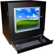 """PC Enclosures PC Qube Computer & Monitor Enclosure, 21""""W x 16""""D x 18""""H, Black"""